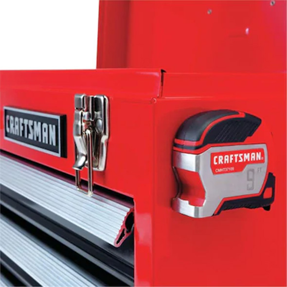 Craftsman Pocket Tape Measure Attached to Tool Box