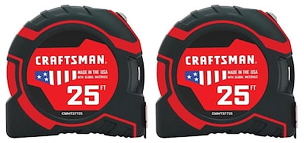 Craftsman Tape Measure 2-Pack CMHT43241 Holiday 2019