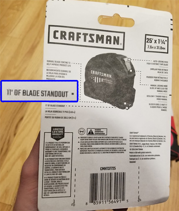 Craftsman Tape Measure 2018 Edition Standout Marketing