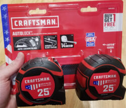 Craftsman Tape Measure 2019 Holiday Special