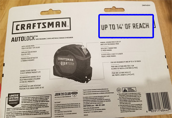 Craftsman Tape Measure 2019 Holiday Special Reach Marketing