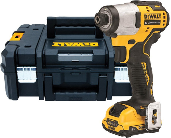 Dewalt 12V Max Xtreme Subcompact Cordless Impact Driver and Tstak Tool Box Kit