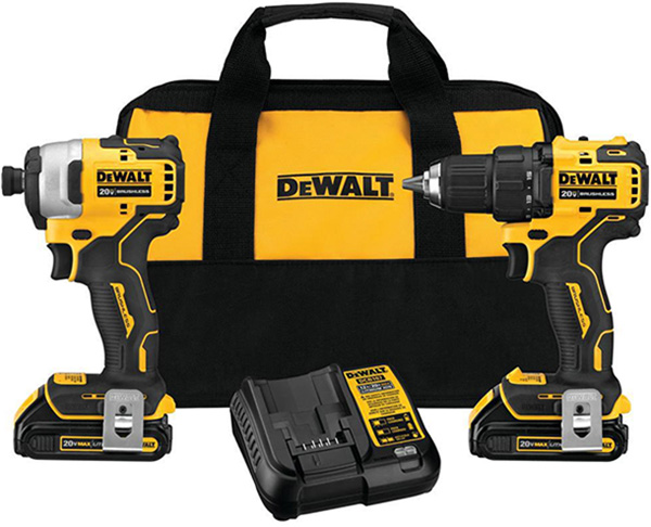 Dewalt Atomic 20V Max Cordless Drill and Impact Driver Combo Kit