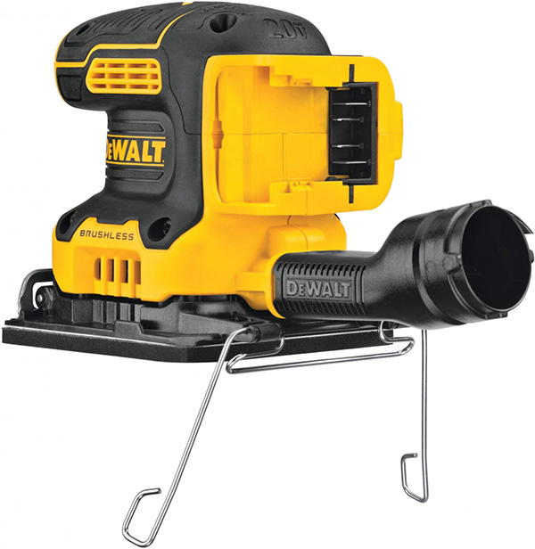Dewalt DCW200 20V Max Cordless Quarter Sheet Sander Rear Paper Clamp
