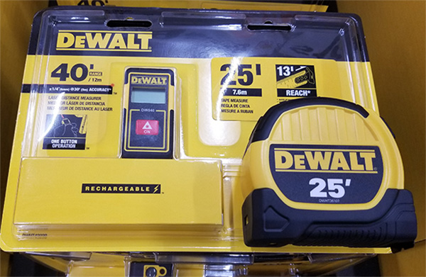 Dewalt DWHT43239GC Tape Measure and Laser Distance Measuring Tool Bundle Deal Package