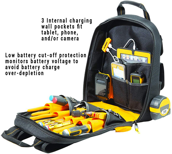 Dewalt Tool Backpack with USB Charging