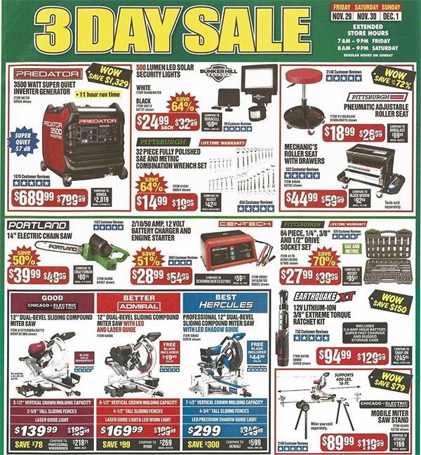 Harbor Freight Black Friday 2019 Tool Deals Page 5