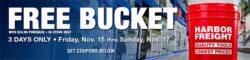 Harbor Freight Free Bucket Promo