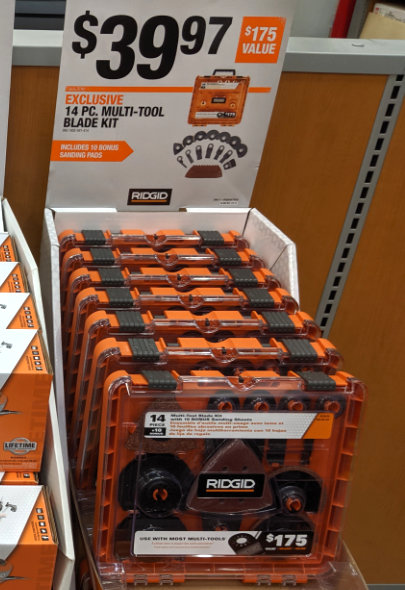 Home Depot 2019 Pre Black Friday Special Buys Ridgid MultiTool Blades