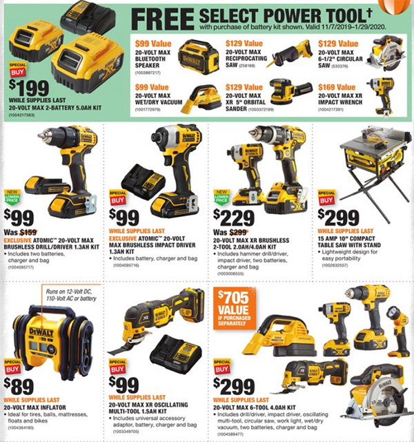 Home Depot Black Friday 2019 Official Tool Deals Page 11