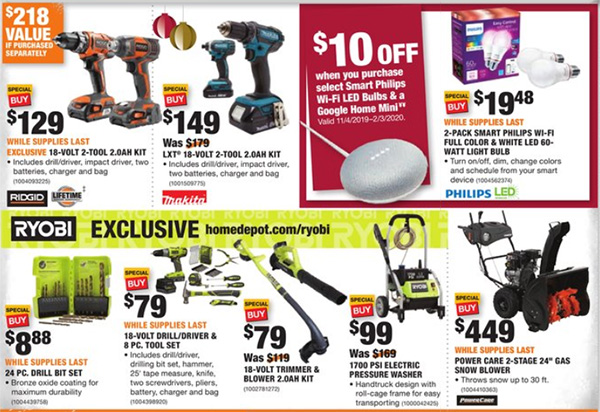 Home Depot Black Friday 2019 Official Tool Deals Page 18