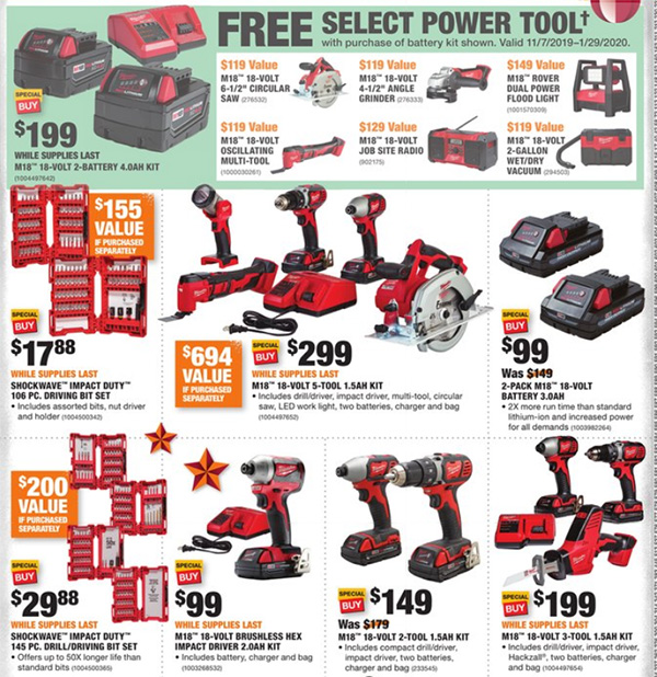 Home Depot Black Friday 2019 Official Tool Deals Page 3