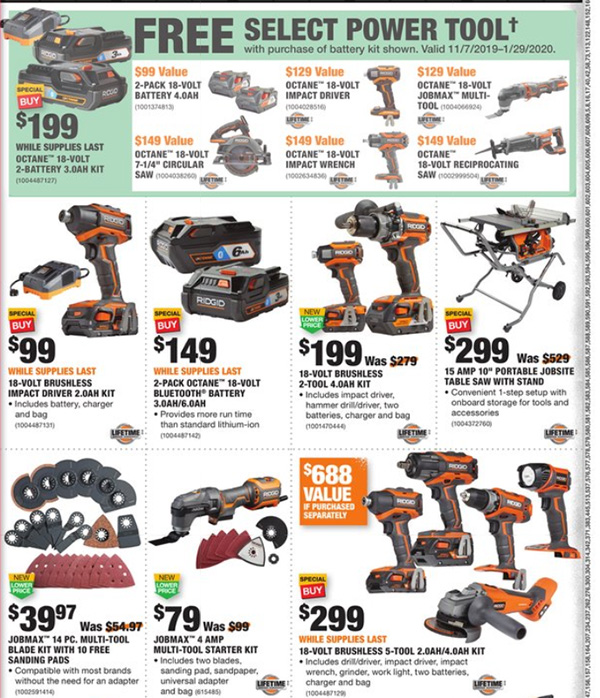 Home Depot Black Friday 2019 Official Tool Deals Page 8