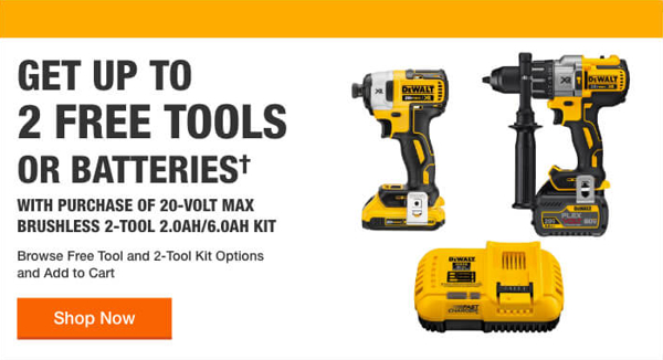 Home Depot Free Power Tools 2019 Promotion Dewalt Two Free Tools