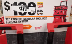 Home Depot Milwaukee Packout Pro Black Friday 2019 Signage Confusion