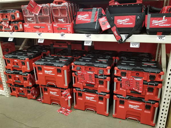 Home Depot Pro Black Friday 2019 Milwaukee Packout Tool Box Display