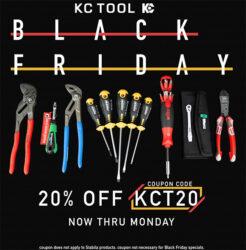 KC Tool Black Friday 2019