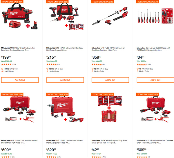 Black Friday 2019 Milwaukee Cordless Power Tool Deals At Home Depot 11 29 19