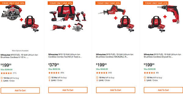 MIlwaukee Cordless Power Tools Home Depot Black Friday 2019 Deals Page 2