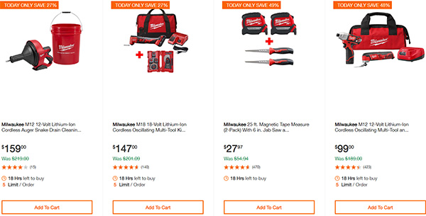 MIlwaukee Cordless Power Tools Home Depot Black Friday 2019 Deals Page 5