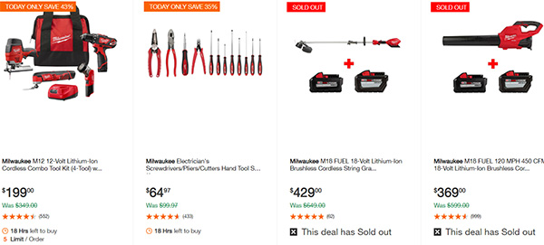 MIlwaukee Cordless Power Tools Home Depot Black Friday 2019 Deals Page 6