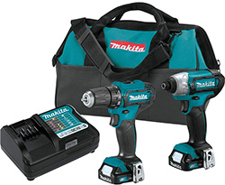 Makita CT232 12V Max CXT Cordless Drill and Impact Driver Combo Kit Hero