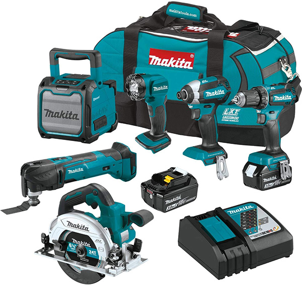 Makita XT613X1 18V Cordless Power Tool Combo Kit