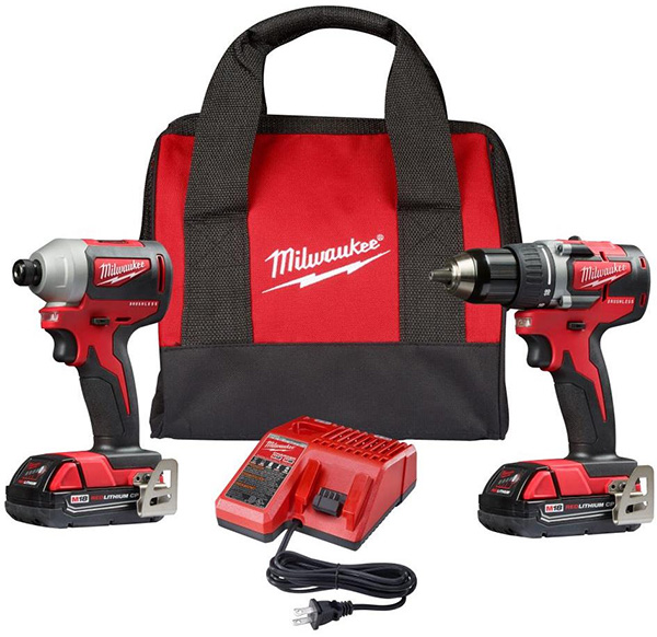 Milwaukee 2892-22CT M18 Compact Brushless Drill Impact Driver Combo Kit