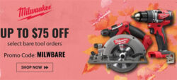 Milwaukee Bare Tool Bargain Bonanza 11-20-19