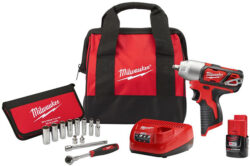 Milwaukee M12 Impact Wrench Kit Bundle 2463-21P