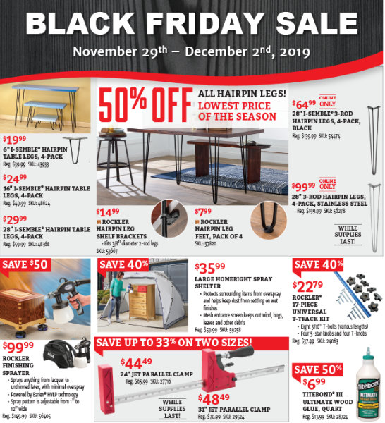 Rockler Black Friday 2019 Page 3