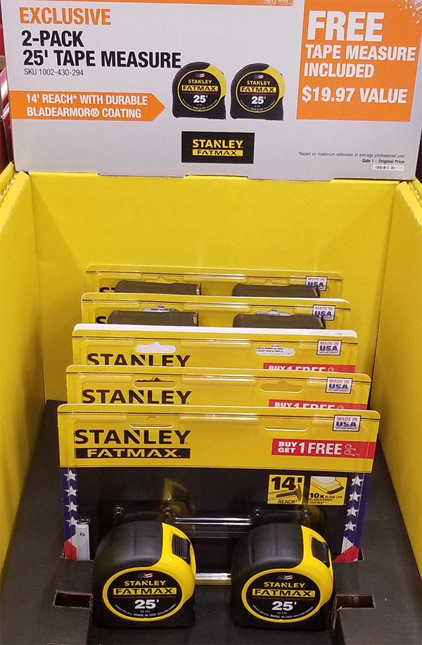 Stanley Tape Measure 2-Pack Advertising