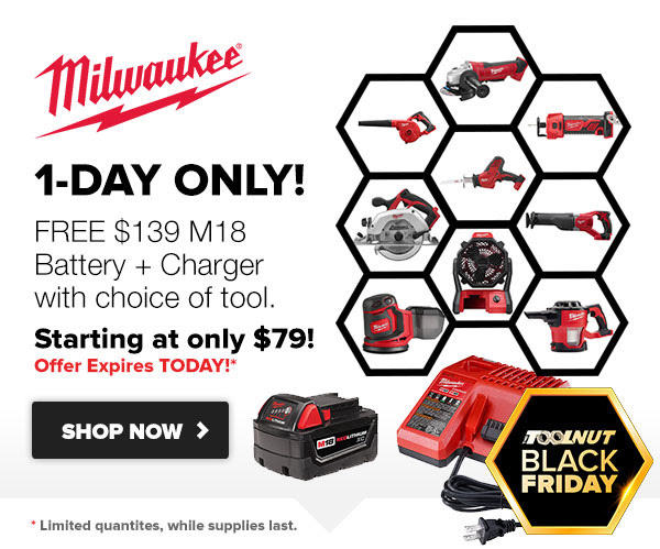 Tool Nut Milwaukee Black Friday 2019 Deal