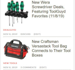 ToolGuyd Homepage Update 11-8-2019