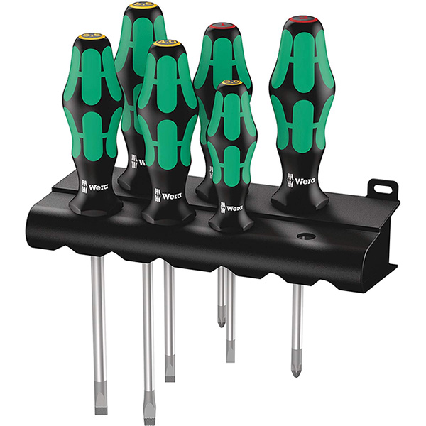 Wera Kraftform Plus 334-6 Screwdriver Set with Lasertips and Rack