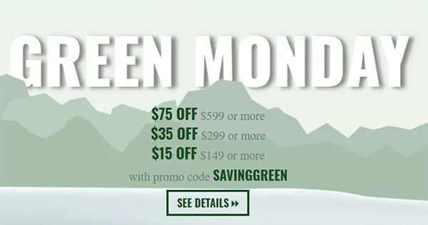 Acme Tools Green Monday Buy More Save More Deal