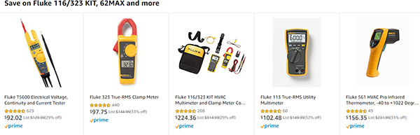 Amazon Fluke Tool Deals 12-7-19