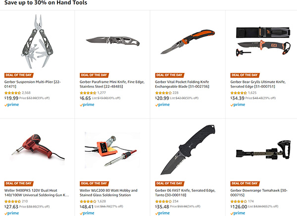 Amazon Hand Tool Deals of the Day 12-8-19