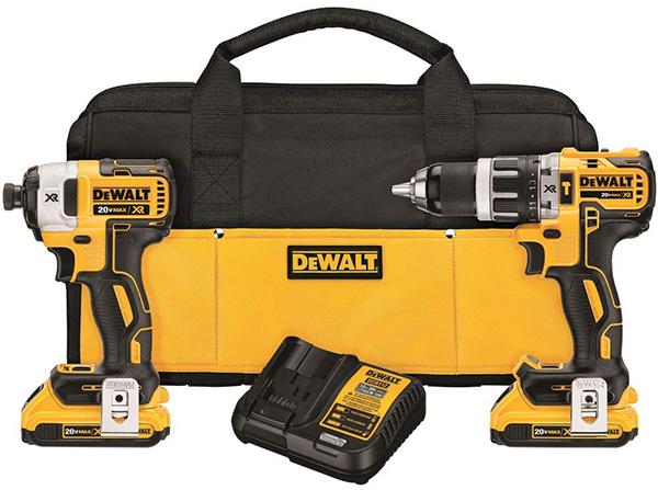 Dewalt DCK287D2 20V Max Cordless Hammer Drill and Impact Driver Combo Kit