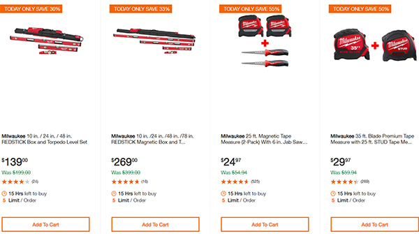 Home Depot Cordless Power Tool Deals of the Day 12-16-19 Page 11