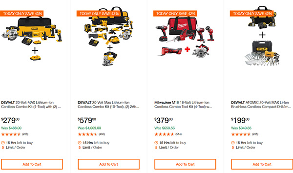 Home Depot Cordless Power Tool Deals of the Day 12-16-19 Page 2
