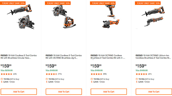 Home Depot Cordless Power Tool Deals of the Day 12-16-19 Page 4
