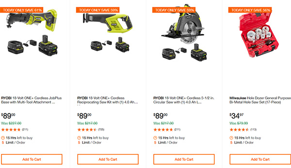 Home Depot Cordless Power Tool Deals of the Day 12-16-19 Page 6