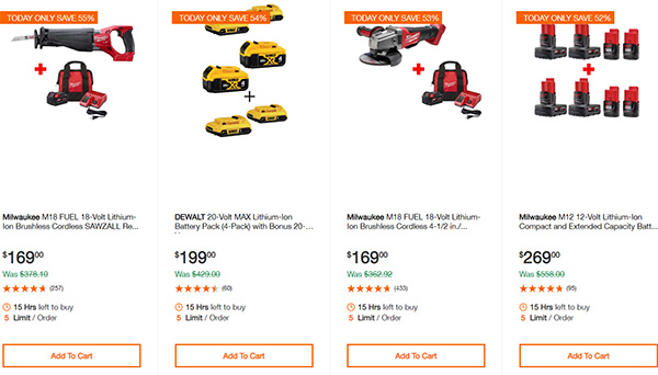 Home Depot Cordless Power Tool Deals of the Day 12-16-19 Page 7