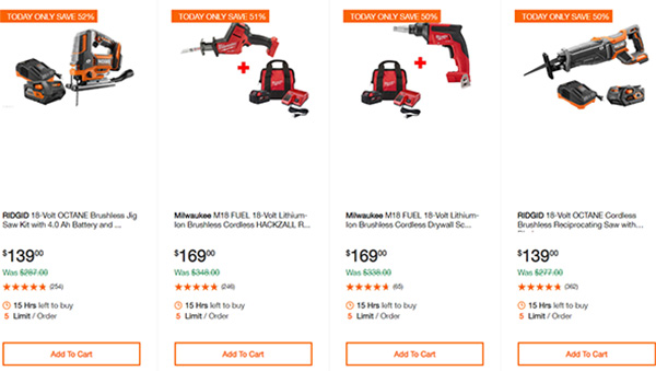 Home Depot Cordless Power Tool Deals of the Day 12-16-19 Page 8
