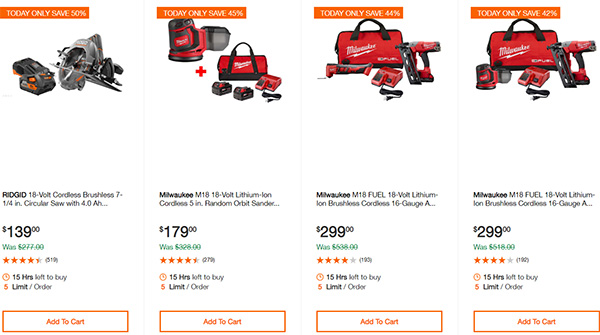 Home Depot Cordless Power Tool Deals of the Day 12-16-19 Page 9