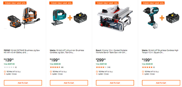 Home Depot Cordless Power Tool Deals of the Day 12-3-19 Page 1