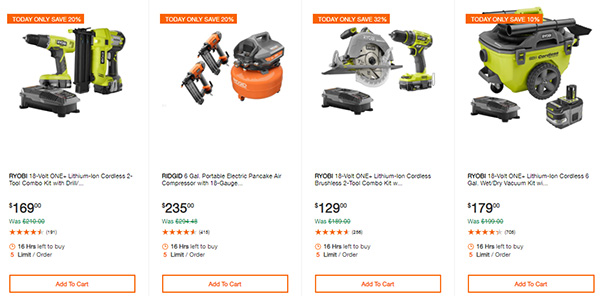 Home Depot Cordless Power Tool Deals of the Day 12-3-19 Page 4