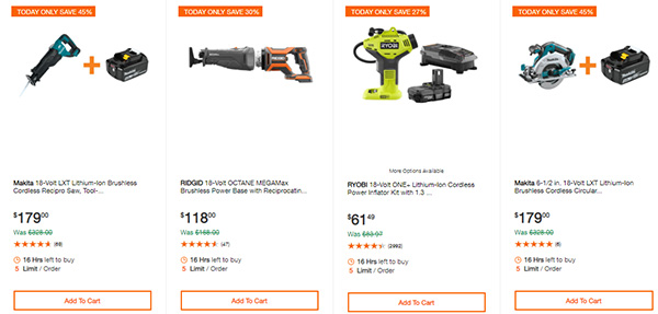 Home Depot Cordless Power Tool Deals of the Day 12-3-19 Page 5