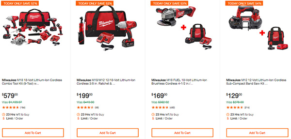 Home Depot Cyber Monday Dewalt Milwaukee Cordless Power Tool Deals Page 1